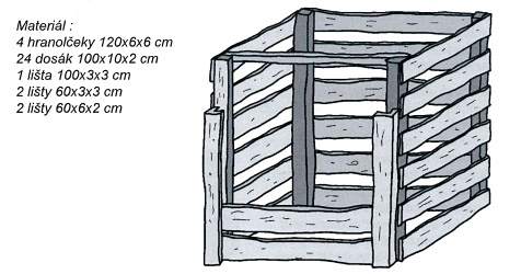 Konštrukcia dreveného zásobnika